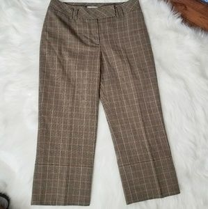 Ann Taylor LOFT Cropped Ankle Pants Plaid Checker